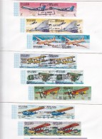 Umm Al Qiwain,1969 Overprint Gold On Airplane Se Tenant Perf+Imperf-Moon Flight-18 V. Each On 6 Off.FDC- RARE-SKRILL ONL - Umm Al-Qiwain