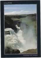 Gullfoss, The 'Golden Waterfall' (35 M) In River Hvitá  - (SW Iceland) - IJsland