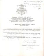 Document Historique Cardinal VAN ROEY  1945 Permission De Lire  Ouvrages Prohibés Par La Religion Catholique  En 1945 - Historical Documents