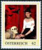 """Personalisierte Briefmarke PM 8111605 HALLOWEEN """"HEXE NICOLE 2014""""  Witch Bat Skull Chain - Austria"""