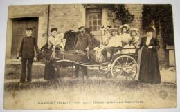 Très Rare LAVIGNY Animée - 1er Aout 1907 - Attelage - Départ Pour Une Excursion - Cpa Jura - Frankrijk
