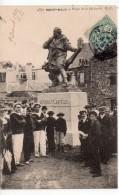 CPA.35.1907.Saint Malo.Place De La Hollande.Statue Jacques Cartier.Animée Marins Personnages. - Saint Malo