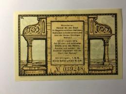 Allemagne Notgeld Nordlingen 50 Pfennig 1921 NEUF - Non Classés