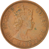 Etats Des Caraibes Orientales, Elizabeth II, 2 Cents, 1965, TB+, Bronze, KM:3 - Caraïbes Orientales (Etats Des)