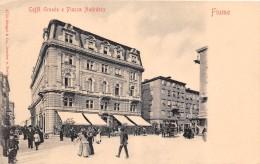 FIUME.- CAFFÉ GRANDE E PIAZZA ANDRASSY - Croacia