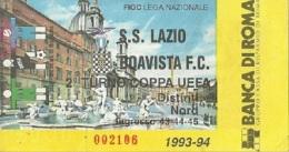 Biglietto Lazio Boavista Coppa UEFA 1993/94 - Non Classificati