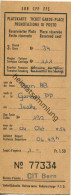 Schweiz - Platzkarte Ticket Garde-Place Prenotazione Di Posto - 1954 3. Classe - Raucher Fr. 1.50 Zürich Wien - Transporttickets