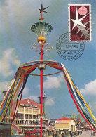 D25024 CARTE MAXIMUM CARD 1958 SPAIN - WORLD EXPO BRUSSELS STAR SYMBOL CP ORIGINAL