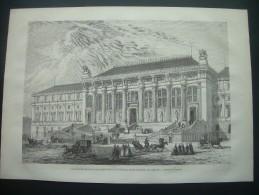 GRAVURE De 1868.. PARIS. La NOUVELLE FACADE Du PALAIS De JUSTICE Du Côté De La PLACE DAUPHINE. Dessin De M. Lancelot - Prints & Engravings