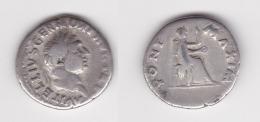 VITELLIUS 69 DENIER R/Vesta Assise 3,16gr (voir Scan) - 1. La Dinastia Giulio-Claudia Dinastia (-27 / 69)