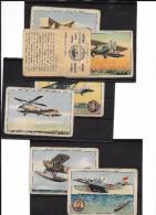 Conjunto De 7 Cromos Antiguos Historia De La Aviacion - Aviación Comercial