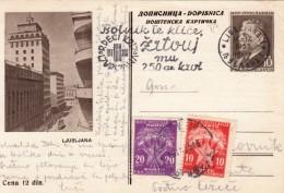 JUGOSLAVIJA YUGOSLAVIA DOPISNICA CARTE POSTALE ILLUSTRATED CARD 1955 LJUBLJANA - Ganzsachen