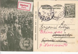JUGOSLAVIJA YUGOSLAVIA DOPISNICA CARTE POSTALE ILLUSTRATED CARD 1957 SMOTRA JEDINICA NOV SEŽANA NOVO MESTO - Postal Stationery