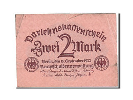Allemagne, 2 Mark, 1922, KM:62, 1922-09-15, TB - [ 3] 1918-1933 : República De Weimar