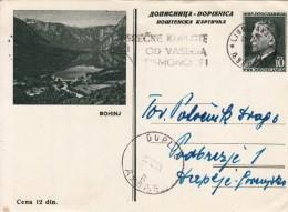 JUGOSLAVIJA YUGOSLAVIA DOPISNICA CARTE POSTALE ILLUSTRATED CARD 1955 BOHINJ LJUBLJANA DUPLJE - Entiers Postaux