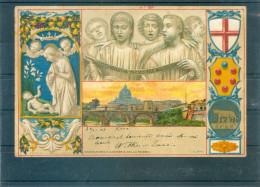 Relief - Gaufrée - Embossed - Prage - Adoration Della Robbia - TBE - Unclassified