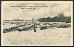 WW1 Germany Aufnahme Vom Ostlichen Schlitten Park No 119 Kahan & Co Postcard - War 1914-18