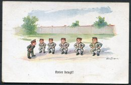 WW1 Germany 'Kniee Beugt' Children Kinder Comic Postcard - Humour