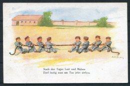WW1 Germany Tug Of War Children Kinder Comic Postcard - Humour