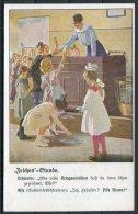 Germany School Children Zeichen Etunde Patriotic Postcard - Patriotic