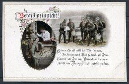 1918 Bayern Bergissmeinnicht Romantic Patriotic Postcard - Patriotic