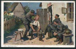 1916 'Ein Bartkunstler' Shaving Barber Art  Postcard - War 1914-18