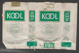 Empty And Open Cigarettes Box - Kool - U.S.A. - Empty Cigarettes Boxes