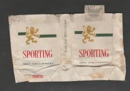 Empty And Open Cigarettes Box - Sporting - Portugal - Empty Cigarettes Boxes