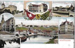 SCHAFFHAUSEN → 7-fach Litho-Karte Anno 1907 - SH Schaffhausen