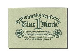 Allemagne, 1 Mark, 1922, KM:61a, 1922-09-15, SPL - [ 3] 1918-1933 : Weimar Republic