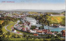 SCHAFFHAUSEN → Bahnstrecke Mit Unternehmung Und Hochkamin, Ca.1910 - SH Schaffhausen