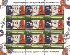 MK 2016-766 UEFA CUP FRANCE, MAKEDONIA, MS, MNH - Mazedonien