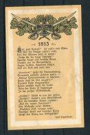 Germany Napoleonic 1813 Josef Huggenberger Patriotic Song Postcard - Patriotic