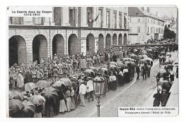 SAINT DIE  (cpa 88) Avant L'occupation Allemande, Prisonniers Devant L'hôtel De Ville -   - L 1 - Saint Die