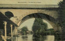 Dép 40 - Lavoirs - Lavoir - Lavandières - Lavandière - Sore - Le Pont Sur Le Leyre - Carte Toilée Couleurs - état - Sore