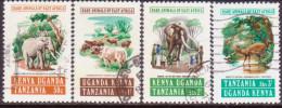 KENYA, UGANDA AND TANZANIA 1975 SG#379-82 Compl.set Used Rare Animals - Kenya, Uganda & Tanzania