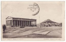 GREECE Athens Athenes Theseion & Mount Lycabettus - Hephaestus Temple - 1920s Old Vintage Postcard [9071] - Greece