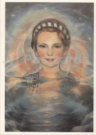 Painting By A. Kiljan - Girl - 1993 - Miss Estonia 1994 Card - Estonian Art - Estonia - Unused - Peintures & Tableaux