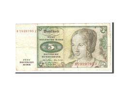 République Fédérale Allemande, 5 Deutsche Mark, 1970, KM:30a, 1970-01-02, TB - [ 7] 1949-… : RFA - Rep. Fed. De Alemania