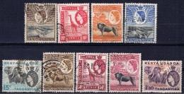 OAG+ Ostafrikanische Gemeinschaft 1954 Mi 92-98 100-01 Freimarken - Kenya, Uganda & Tanganyika