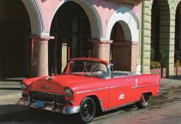 Chevrolet Bel Air Convertible  -  1955  -  Ancienne Voiture Americaine En Havana, Cuba  -  CPM - PKW