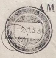 CASABONA + CATANZARO + ANNULLO MUTO  SU VERBALE DI VERIFICA MOD.112-B - EDIZIONE 1944 - Marcophilia