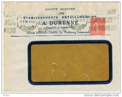 O.MEC KRAG PARIS 48 SALON DES ARTS MENAGERS SUR ENVELOPPE A FENETRE A DURENNE - Marcophilie (Lettres)
