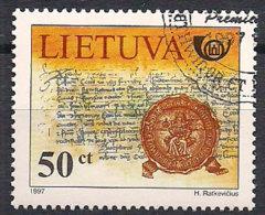 Lithuania 1997 Post History, Mi 651, Cancelled(o) - Lithuania