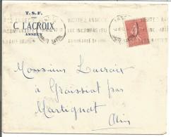 OBLITERATION MECANIQUE SUR LETTRE DE ANNECY DU 8/11/1932 - Postmark Collection (Covers)