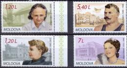 MOLDOVA 2010 PEOPLE Famous PERSONS - Fine Set MNH - Moldawien (Moldau)