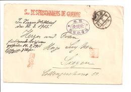 Japan KGF - Kriegsgefangenenbrief 1919 über Japan Nach Siegen Bedverw - Omslagen