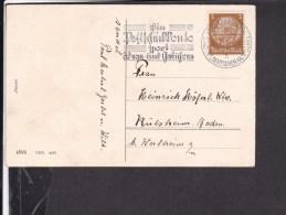 Postkarte  Neu Jahr Werbestempel Frankfurt 1937 - Deutschland