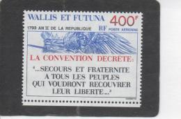 WALLIS Et F -  1793, An II De La République - Oeuvre De Rude Et Texte - - Poste Aérienne