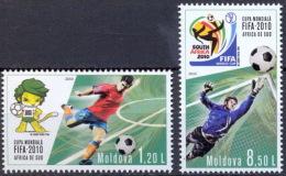 MOLDOVA 2010 SPORT Soccer. Football World Cup In SOUTH AFRICA - Fine Set MNH - Moldavia